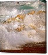 Sunset Beach Splash Canvas Print