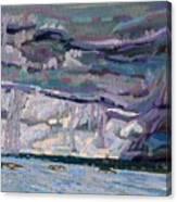 Shore To Shore Showers Canvas Print