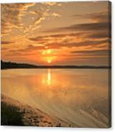 Shoreline Sunset Canvas Print
