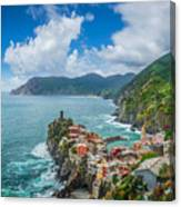 Shores Of Cinque Terre Canvas Print