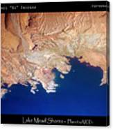 Shores Of Lake Mead Planet Art Canvas Print