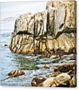 Shores Of Pebble Beach Canvas Print