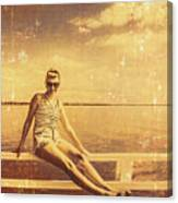 Shorncliffe Pier Pin Up Canvas Print