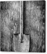 Short Handled Shovel On Plywood 72 In Bw Canvas Print