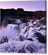 Shoshone Falls In Winter Canvas Print