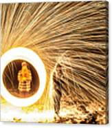 Shower Of Fire Canvas Print