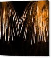 Shower Of Orange Colors Using Pyrotechnics Firework Canvas Print