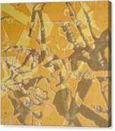Shredded Notebook Stencil Canvas Print