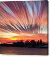 Shredded Sunset Canvas Print