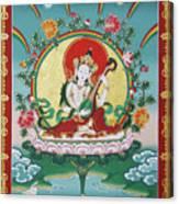 Shri Saraswati - Goddess Of Wisdom And Arts Canvas Print