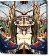 Shrimp Boat Abstract Canvas Print