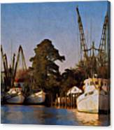 Shrimp Boat Fleet Georgetown Sc Canvas Print