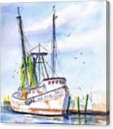 Shrimp Boat Gulf Fishing Canvas Print