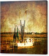 Shrimp Boat In Charleston Canvas Print