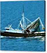 Shrimp Boat In The Gulf Canvas Print