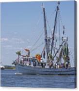Shrimp Boat Parade Of The Shrimp Festival Canvas Print