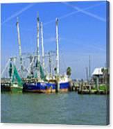 Shrimp Boats Seabrook  Canvas Print