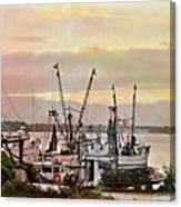 Shrimp Boats Watercolor Canvas Print