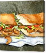 Shrimp Po Boy Canvas Print