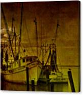 Shrimpboats In Apalachicola  Canvas Print