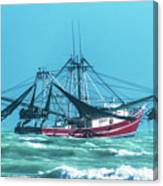 Shrimping On A Windy Day In Key West Canvas Print