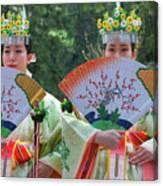 Shrine Maidens From Tsurugaoka Hachimangu Shrine Canvas Print