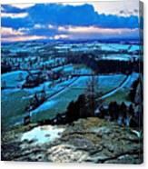Shropshire Winter Sunset Scene Canvas Print