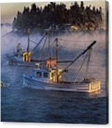 Shrouded In Morning Sea Smoke Canvas Print