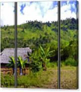 Shuar Hut In The Amazon Canvas Print