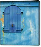 Shuttered Blue Canvas Print