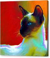 Siamese Cat 10 Painting Canvas Print