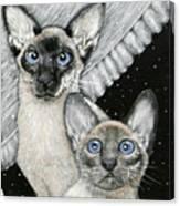 Siamese Cats Canvas Print