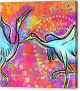 Siberian Cranes Canvas Print