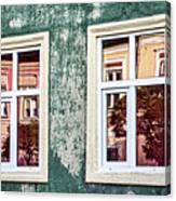 Sibiu Window Reflections - Romania Canvas Print