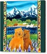 Sibling Bears Of Katmai Canvas Print