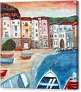 Sicilian Fishing Village Canvas Print