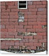 Side Of An Abandoned Old Barn Canvas Print