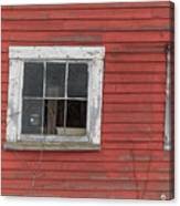 Side Of An Old Red Barn Quechee, Vermont Canvas Print