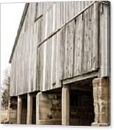 Side Of The Amana Farmer's Market Barn Amana Ia Canvas Print