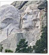 Side View Of Mount Rushmore  8696 Canvas Print