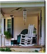 Side View Of Porch Canvas Print