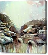 Sidehill Retirees Canvas Print