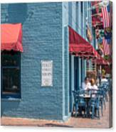 Sidewalk Cafe Annapolis Canvas Print