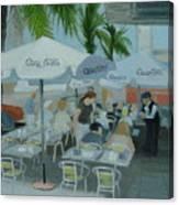 Sidewalk Cafe Study Canvas Print