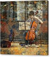 Sidewalk Cellist Canvas Print
