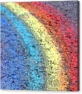 Sidewalk Rainbow  Canvas Print
