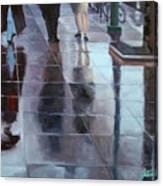 Sidewalk Reflections Canvas Print
