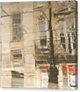 Sidewalk Reflections II Canvas Print
