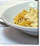 Siena-3-pasta With Four Cheeses Canvas Print