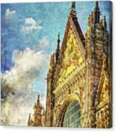 Siena Duomo Facade In The Sunset Canvas Print